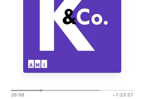 Kelly & Co. Logo. There is a letter K and the abbreviation Co on a purple square. The A M I logo is on the bottom left.